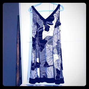 Flattering Ralph Lauren tropical print dress